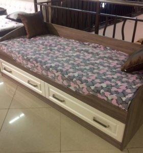 Кровать 80-200 Прованс с матрасом