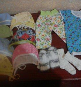 Вещи на малыша от рождения до 3 месяцев
