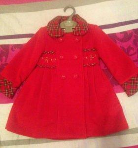 Пальто  с платьем  весна-осень  2 _3годика