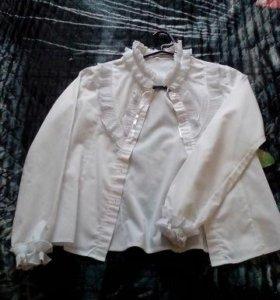 Блузка белая школная