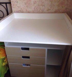 Стува пеленальный столик с 3 ящиками Икея