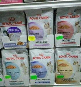 Паучи Royal canin в ассортименте