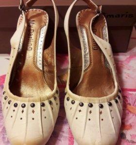 Кожа туфли 38 размера