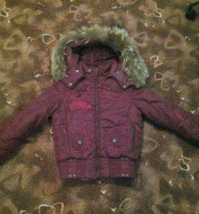 Куртка на девочку, зимняя