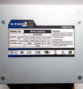 650W Chieftec BPS-650S2 Bronze 80 Plus