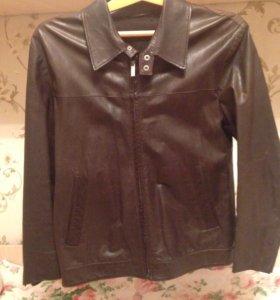 Мужской Кожаную куртка Размер 48