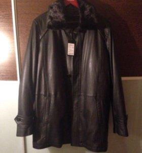 Мужская зимняя куртка- полупальто