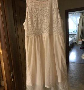 Продам платье. Срочно. Новое. Р.48-50. Белое.