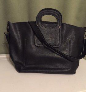 Кожаная черная сумка Mascotte