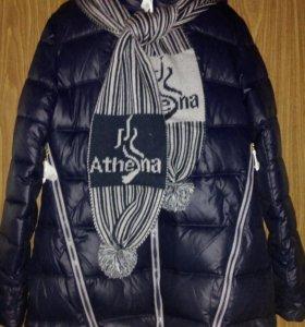 Куртка женская с шарфом