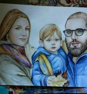 Портреты, картины
