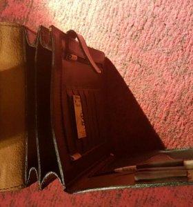 Кожаный мужской планшет-сумка