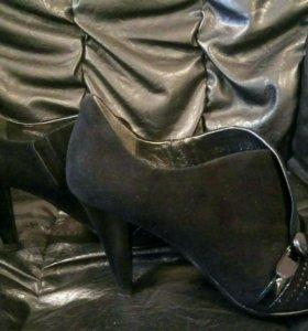 Новые туфли 👠👌(замш, кожа, 38 размер)