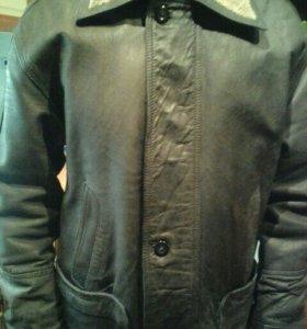 Куртка мужская,кожанная(удлиненная)
