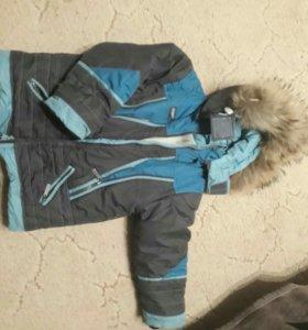 Зимний комплект:куртка +комбенезон