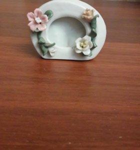 Фоторамка из керамики (фарфора)