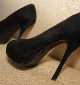 Туфли замшевые 12 см. каблук