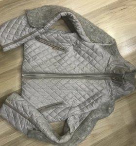 Куртка трансформер со вставками шерсти