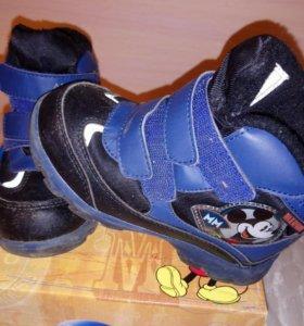 Ботинки Disney внутри шерсть