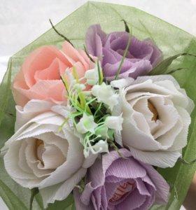 Букет из конфет/ цветы