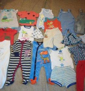 Одежда пакетом для малыша 62-68 см
