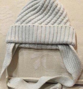 Хлопковая шапочка на малыша 3-8 мес