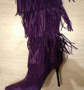 Сапоги новые!!!!!!!фиолетовые.