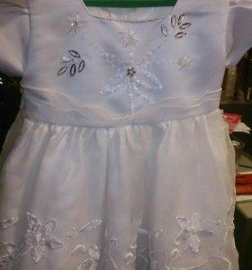 Платье праздничное белое на 1 год
