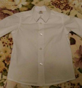 Классическая белая рубашка для мальчика 2-3 лет