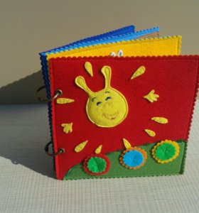 Книга из фетра, для детей.