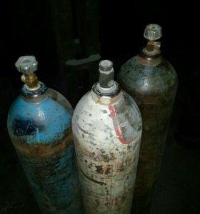 Баллоны газовые ацителен, кислород