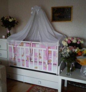 Кроватка детская трансформер (комплект)