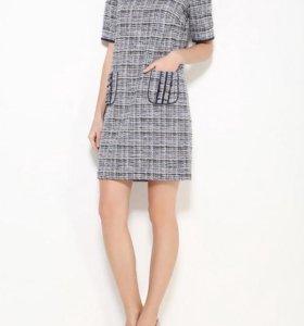Lusio твидовое новое синее 44-46 платье