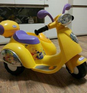 Детский электромобиль Geoby Мотоцикл с коляской