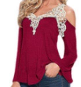 Блузка, цвет винной ягоды