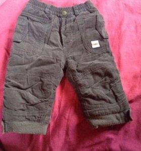 Вильветовые брюки утеплённые