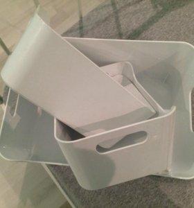 Пластиковые контейнеры набор ИКЕА
