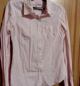 Рубашка с розовыми полосками