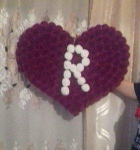 Сердечка из цветочка
