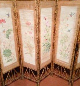 Бамбуковая ширма ручной работы 6 створок