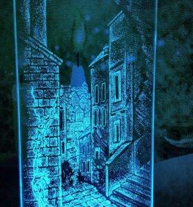 Светильник ночник Город