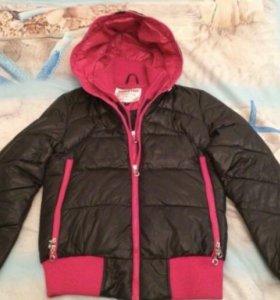 Утепленная куртка на девочку