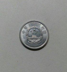Монета Китая лот 199