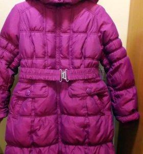 Зимнее пальто для девочки, 164 см