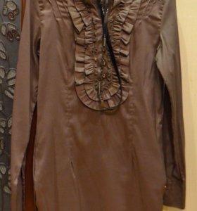 Длинная блузка с ремешком