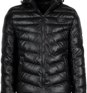 Мужская кожаная куртка Emporio Armani