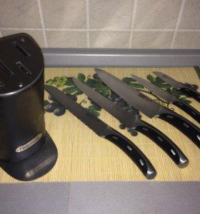 Набор кухонных ножей ( 5шт) с подставкой