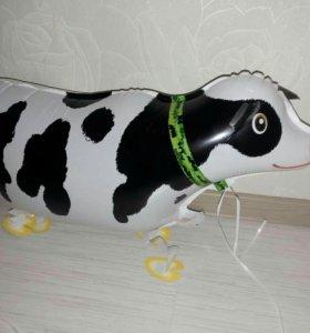 Корова (шарик) на ножках (на поводке)