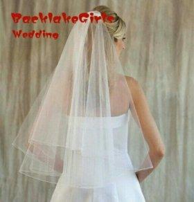 Свадебная фата очень легкая