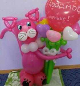 Кошка из шаров 390 руб